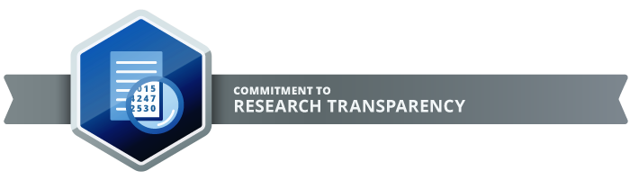 Commitment to Research Transparency